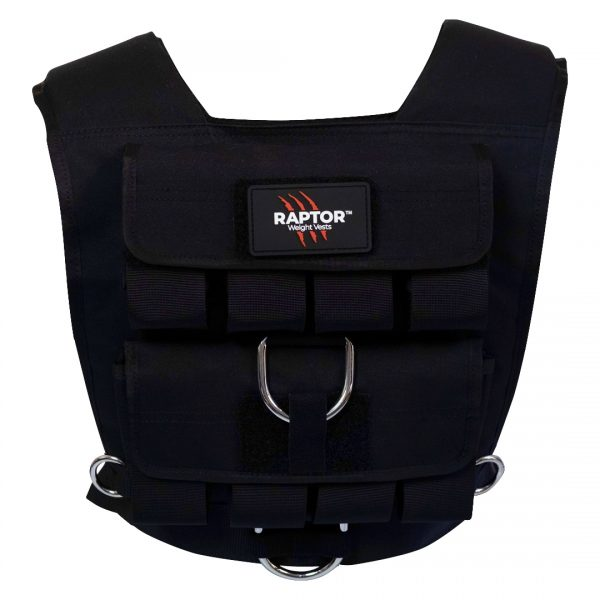 raptor elite 20 resistance training weight vest bl20b
