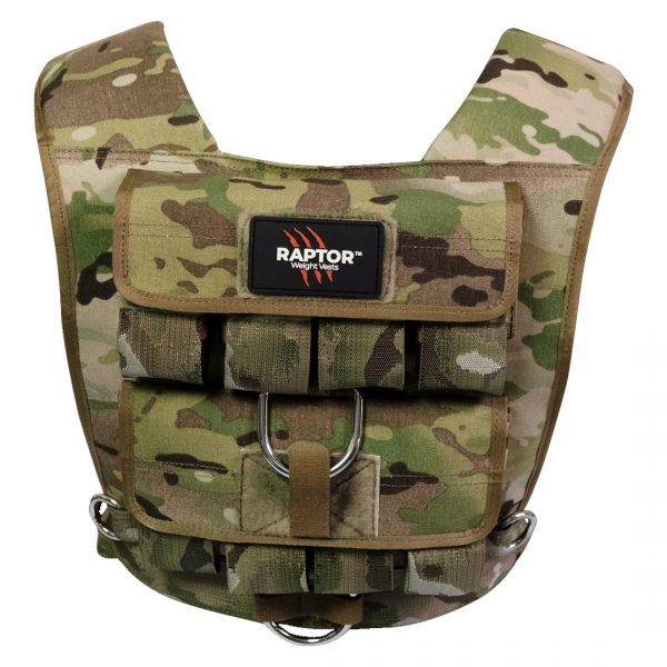 raptor elite 20 resistance training weight vest mc20b