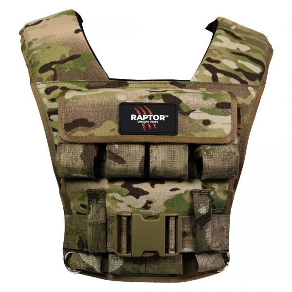 raptor elite 20 resistance training weight vest mc20f