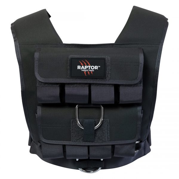 raptor elite 20 resistance training weight vest wo20b