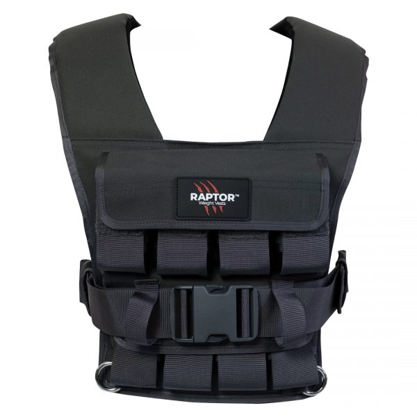 raptor elite 20 resistance training weight vest wo20f